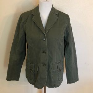 Style & Co. Olive Green Cord Jacket